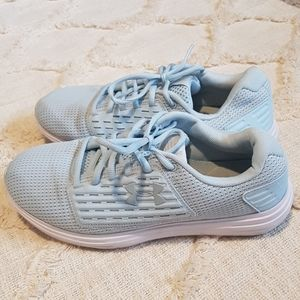 Under Armour baby blue sneakers